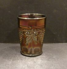 Northwood Carnival Grape and Cable Amethyst Tumbler - MINT