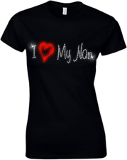 I Love My Nanan Crystal Ladies Fitted T Shirt - Rhinestone ALL SIZES