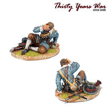 TYW024 Spanish Tercio Musketeer Casualty to Fire by First Legion