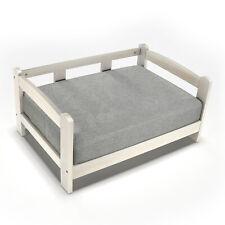 Solid Wood Pet Bed Waterproof High Density Foam Mat Cat Dog Bed Sofa White Color