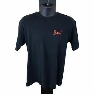 Brixton Men's T Shirt - Medium - Black Standard Fit - Round Neck