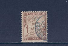 timbre France TAXE   Duval   1f marron     num: 25   oblitéré tb  signé
