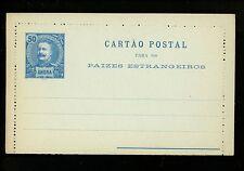 Postal Stationery H&G #A4 Angra postal lettercard 1897 Vintage