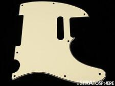 *NEW Vintage Cream Telecaster PICKGUARD for Fender USA Standard Tele 3Ply 8 Hole