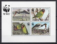 ZAMBIA 1996, Mi #20, souvenir sheet, CV €200, WWF, whales, MNH