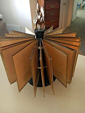 Vintage Picture Holder Spins Brass Rooster Wooden Bottom Old Really Coo Find