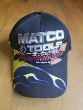 MATCO TOOLS NHRA Super Nationals Drag Racing Baseball Cap Hat Fire Flames w/ PIN