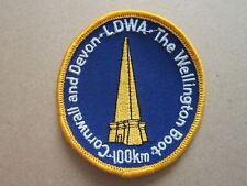 Cornwall & Devon Wellington Boot 100Km Walking Hiking Cloth Patch Badge (L6K)