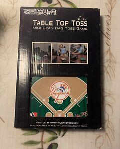 MLB NY Yankees Table Top Toss - Mini Bean Bag Toss Game - Man Cave - NEW - KAL