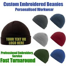 Custom Embroidered Personalised Hats Pullover Cuffed Beanie 4 Professionals
