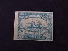 Stamp Sello Canal Maritime de Suez Canal Company Fake? False? (*) Blue 20c Ship