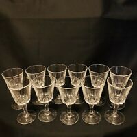"Lot Of 11 VINTAGE CRYSTAL CORDIAL LIQUOR GLASSES STEMWARE 3 3/4"" Gorgeous!"