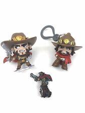 Blizzcon Blizzard Mccree Set Overwatch Pin & Backpack Hanger Vinyl Toy Figure