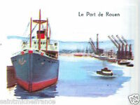 IMAGE CARD 60s  Le Port de Rouen La Seine Normandie France