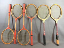 (6) Colorful Vintage Badminton Racquets by Spalding / Deluxe