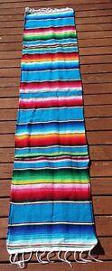 """Mexican Serape Table Runner 14"""" x 72"""" Lightweight Saltillo Sarape Camino de Mesa"""