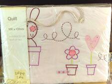 Lollipop Lane 100 X 120 Cm Rosie Posy pink Quilt NEW