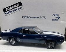Danbury Mint 1969 Camaro Z/28 Blue 1/24 Scale NICE!!