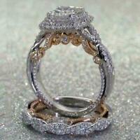 Damen Silber Rose Gold Diamant Ring Engagement Schmuck Z3N0