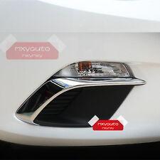 ABS Chrome Trim Front Fog Light Lamp Cover For Mazda 3 M3 2014 2015 2016 AXE