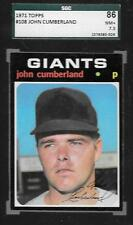 1971 TOPPS BASEBALL CARD 108 JOHN CUMBERLAND GIANTS SGC 7.5 GRADED 86 NM+ *ABC-T