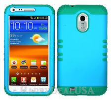 KoolKase Hybrid Cover Case for Samsung Galaxy S2 D710 R760 - Blue (FL)