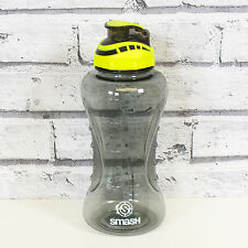 Large 1 Litre Strong Water Drinks Bottle BPA Free Plastic Travel Gym Sports Grey
