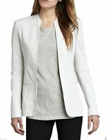 Women Ladies Leather Jacket Real Soft Lambskin Slim Fit White Blazer Coat Jacket
