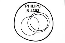 SET BELTS PHILIPS N4303 REEL TO REEL EXTRA STRONG NEW FACTORY FRESH N 4303