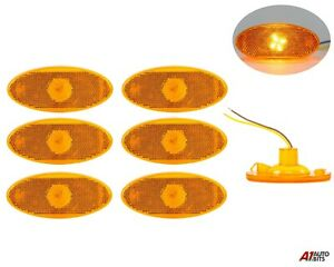 For Renault Master Mk3 / Opel Movano Mk2 6X Amber Side Marker Led Lights Lamps