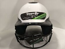 "Rip-It Vision Pro Batter Helmet with Mask, M/L(6 1/2"" -7 3/8"") Black/White"
