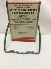 Vintage West End Laundry & Dry Cleaning Advertising Mirror Calendar Newton Iowa