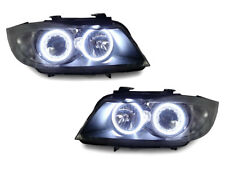 DEPO Factory Seal LED Angel Halo Headlight + Clear Corner For 09-11 BMW E90/E91