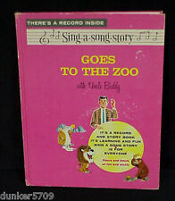1963 SING-A-SONG STORY GOES TO THE ZOO WITH UNCLE BUDDY 45 RPM RECORD WITH BOOK