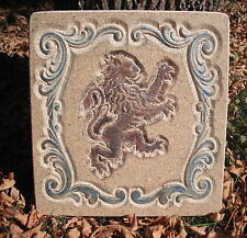 medieval lion  mold plaque/stepping stone plastic mould left lion