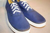 7.5 S NOS Vtg 70s LaCrosse Round Toe SNEAKER NAVY BLUE CANVAS  TENNIS Gym Shoe