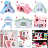 Eco Board Pet Hamster Slide Stairs Animals Villa Bedding Cage Playing House Nest