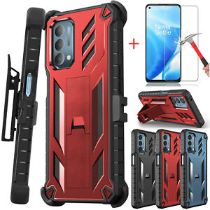 For OnePlus Nord N200 5G Case Shockproof Kickstand Clip Cover / Screen Protector
