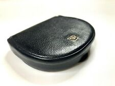 GIANNI VERSACE VINTAGE '90 METAL MEDUSA HEAD RELIEF LEATHER COIN PURSE ITALY