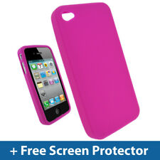 Pink Silicone Skin Case for Apple iPhone 4 HD 4G 16gb 32gb 64gb Cover Bumper