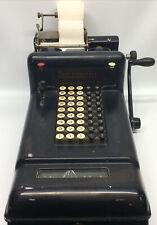 Antique Burroughs mechanical adding machine 5 Row Class-3 Serial# 3-852378