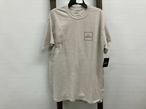 NEW Brixton Alpha Block S/s Tee Tshirt Silver Mens Sz M RRP$49.95