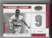 ENOS SLAUGHTER 2003 LEAF FABRIC OF THE GAME JERSEY # 2/9