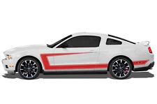 Custom Vinyl Decal Side C-Stripe Wrap Kit for 2010-2014 Ford Mustang GT Dark Red