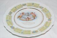 1910 Advertising Calendar Plate Cherubs, Bell & Hourglass Sanders & McIntyre