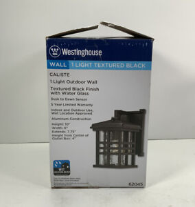 WestingHouse, Wall 1 Light Textured Black, Caliste, Textured Black Finish