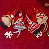 de Noël Fille Poupée en peluche Décoration de Noël Perpendiculaire Pendentif