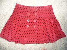 GAP Velvet Polka Dot Red wrap skirt sz 14