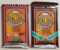 1991-92 Upper Deck Basketball Lot of 2(Two) Sealed Unopened Packs Jordan-*