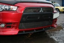 Central Insert between fangs for front bumper Lancer X 2007-2010 ABS plastic